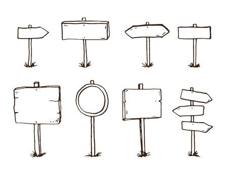 Griffonnage signes et des flèches en bois dessinés à la main Banque d'images - 44220979