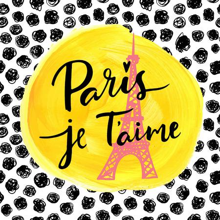 Parijs, ik hou van je. Mode moderne achtergrond. Stock Illustratie