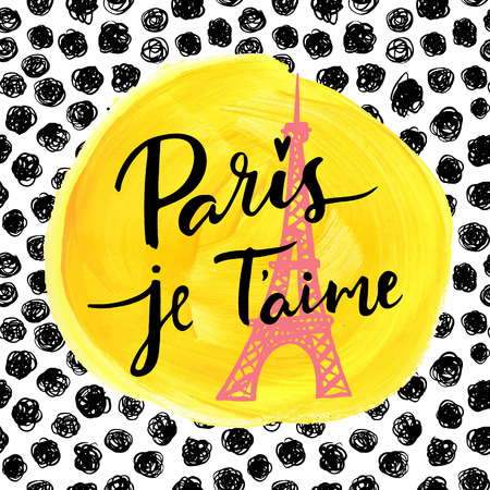love: Paris, I love you. Fashion modern background.