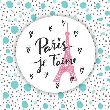 heart sketch: Paris, I love you. Fashion modern background.
