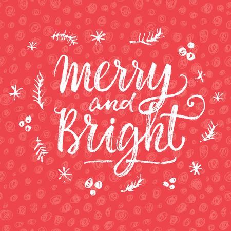 平和、喜び、愛! 手レタリング書道クリスマス型ポスター