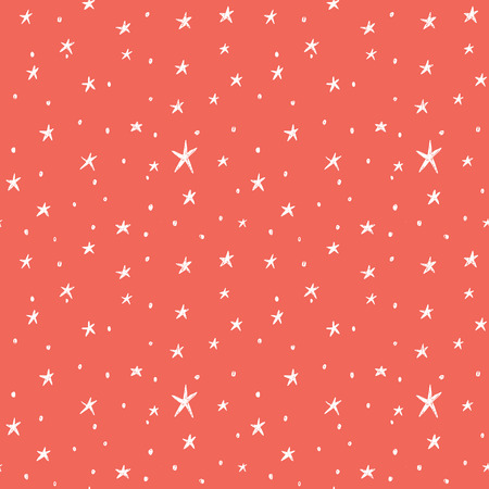 Seamless pattern with hand drawn stars Иллюстрация