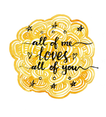 proverbs: All of me loves all of you. Stock Photo