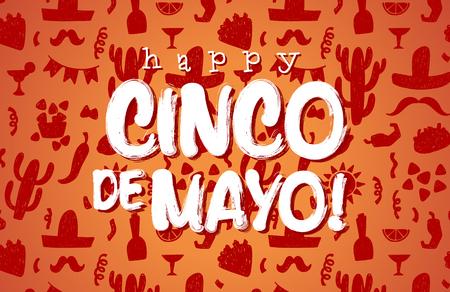 Glückliche cinco de Mayo Banner Standard-Bild - 55686819