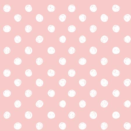 Cute polka dot seamless vector pattern