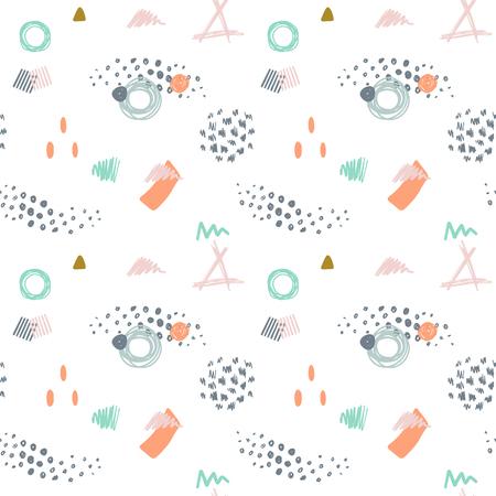 colores pastel: vector sin fisuras patrón abstracto moderno en colores pastel de moda