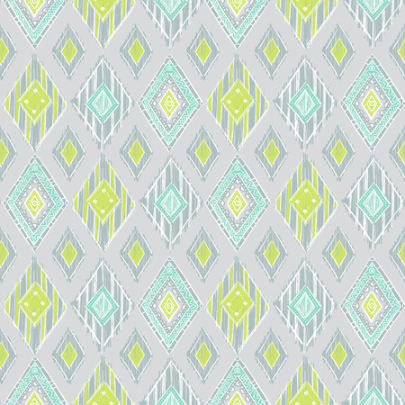 green cute: cute pastel green and blue colors modern seamless pattern. Summer ethnic print.