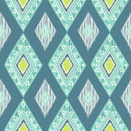 african grey: cute pastel green and blue colors modern seamless pattern. Summer ethnic print.