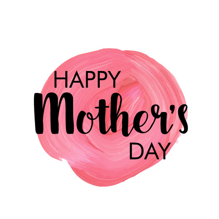mother day: Happy mother`s day! vector greeting card
