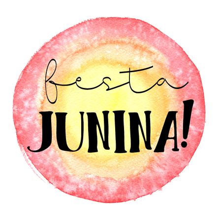banger: Brazil June festival party. Watercolor illustration. Stock Photo