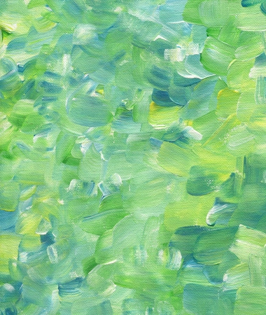 Hand painted green yellow brush strokes texture background