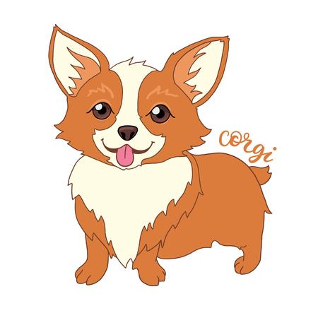 welsh: Cute welsh corgi dog vector illustration Illustration