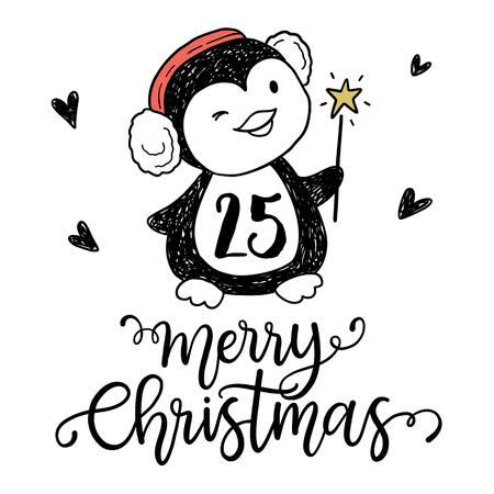 advent calendar: Christmas advent calendar set. Printable card. Illustration
