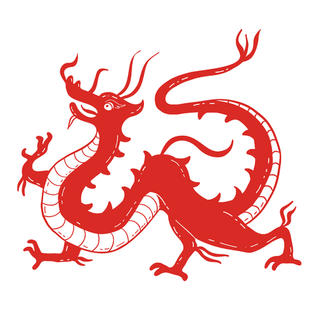 Vector illustration of Traditional chinese Dragon
