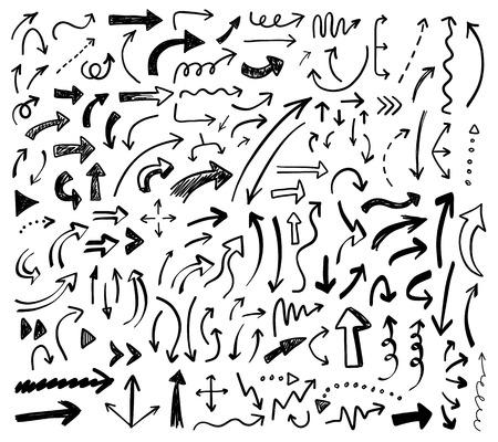 手描きベクトル矢印を設定します。