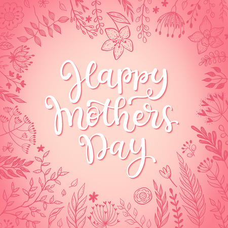 Vector greeting card for Mothers day.