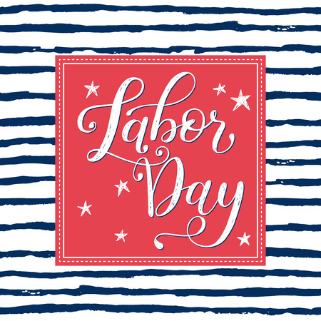 Vector Illustration Labor Day a national holiday of the United States. American Happy Labor Day Sale design poster with hand written calligraphic phrase. Vector Illustration