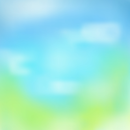Vector background with blurred summer sky