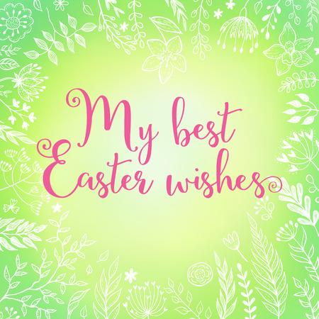Easter greetings vector illustration Çizim