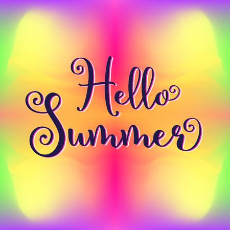 こんにちは夏のイラスト  イラスト・ベクター素材