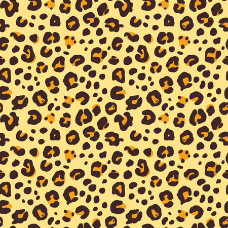 Seamless vector pattern with leopard skin, animal print design