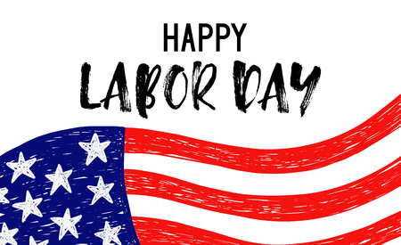 Vector Illustration Labor Day a national holiday of the United States.