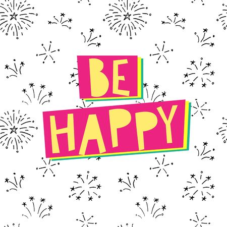 Be happy, it drives people crazy. typographic vector poster. Vectores
