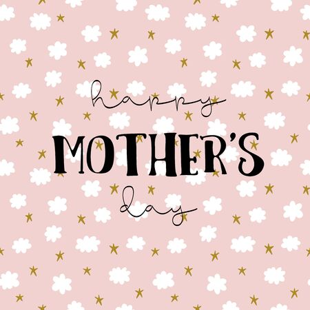 Happy mothers day, vector greeting card design