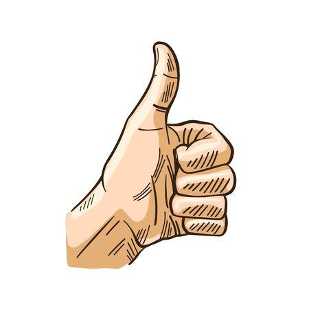 Hand gestures of ok finger symbol image illustration vector