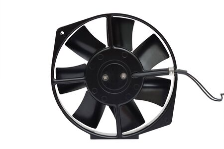 The black fan on a white background Stock Photo