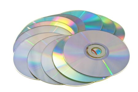 Many CD's isolated on the white background Stock Photo - 5147073