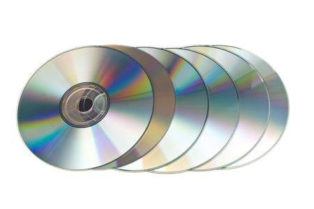 Many CD's isolated on the white background Stock Photo - 5147074