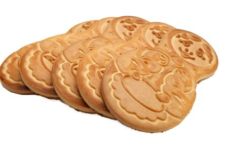 Cookies is isolated on a white background. Stock Photo