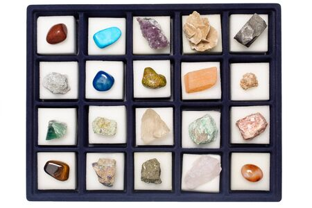 Collection of various minerals, geological samples