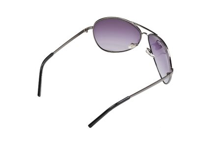 sunglasses with dark glasses are isolated on a white background Stock Photo