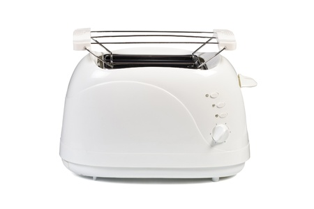 The new toaster is isolated on a white background Stock Photo