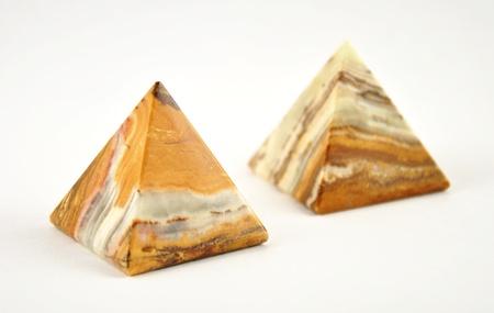 triangle objects: Pyramid made of onyx  Stock Photo