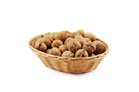 walnuts in a basket Stock Photo - 11881307