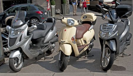 Motorcycle Parking in Vienna  Stock Photo - 13686031