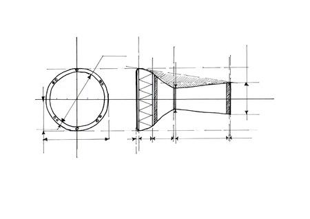 darbuka: darbuka drawing Stock Photo