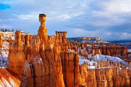 thor's: thor hammer over snow, Bryce Canyon National Park, UT USA