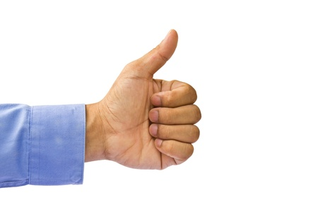 Approbation gesture of business man Stock Photo - 10857102