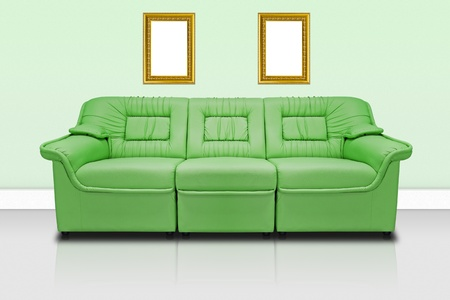 Green modern sofa  for office, home or hotel Stock Photo - 11977910