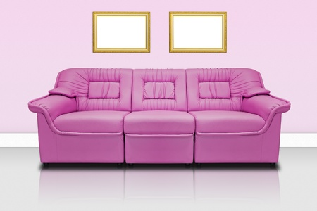 Pink modern sofa  for office, home or hotel photo