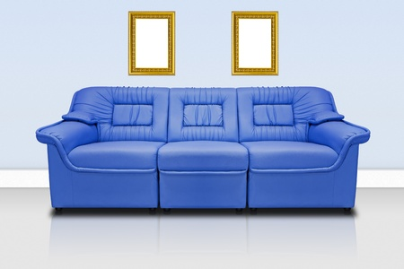 Blue modern sofa  for office, home or hotel Stock Photo - 11977911
