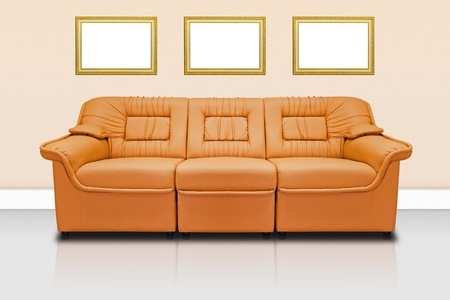 Orange modern sofa  for office, home or hotel Stock Photo - 11977909