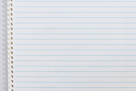 Close up of blank notebook paper, for background Stock Photo - 12010934