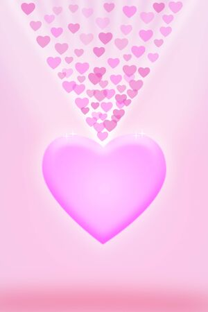 Love pink background with pink hearts photo