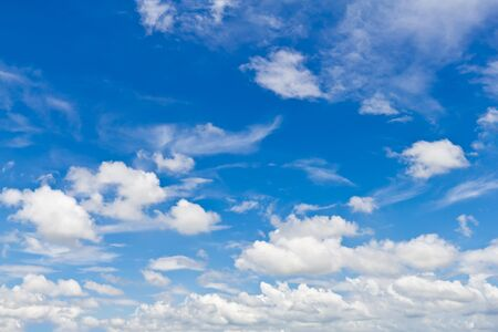 White cloud in blue sky for background Stock Photo - 12963691