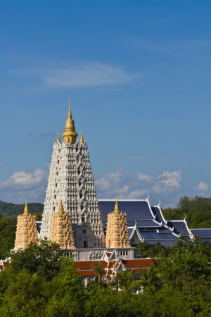 Bodh Gaya style pagoda in Chonburi, a travel destination in Thailand